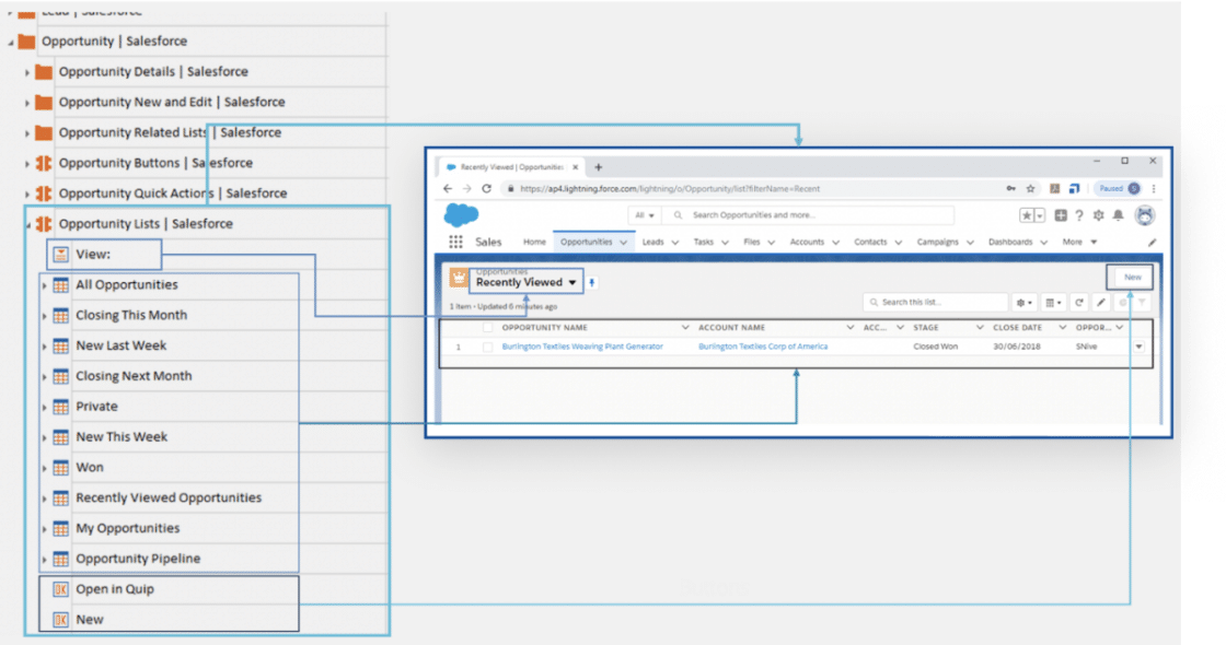 Screenshot of UI for Salesforce Scan for Salesforce testing