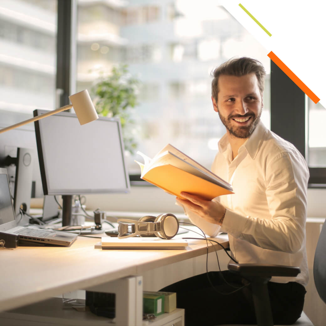 Man confidently smiling knowing they are running the right set of SAP test cases