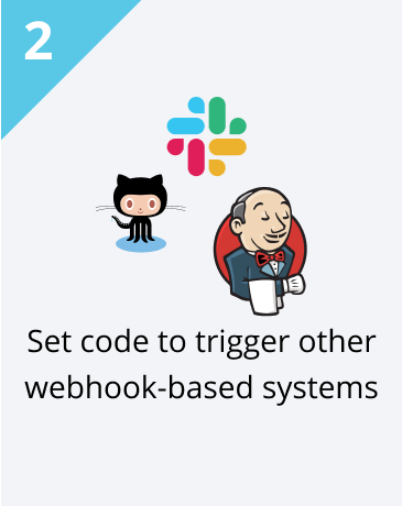 Step 2: Set code to trigger other webhook-based systems