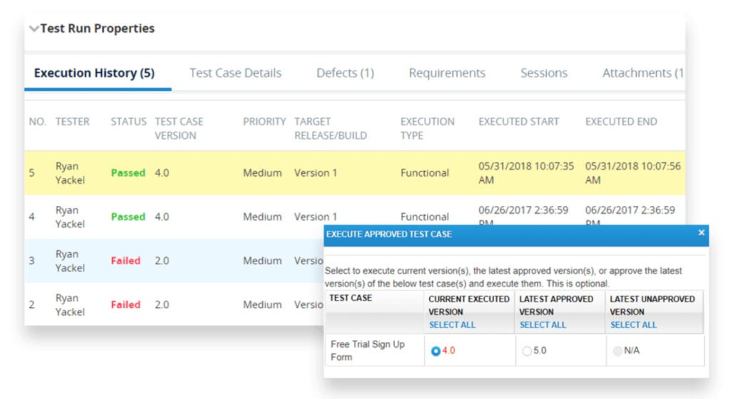 Tricentis qTest approval workflow