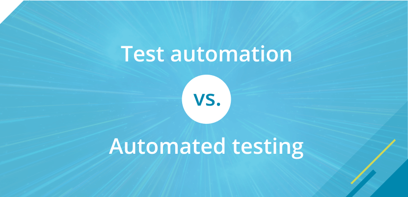 test automation vs automated testing